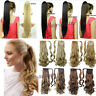 Clip In Pony Tail Hair Extension Wrap/Claw on Ponytail Hair Extension Piece hd78
