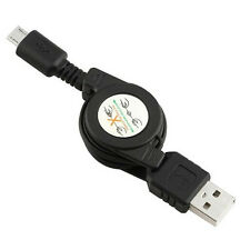 5Pcs Micro USB to USB 2.0 Retractable Data Sync Charger Charging Cable Cord New