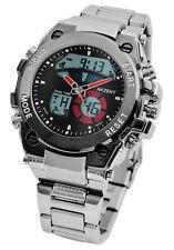Akzent Herrenuhr Armbanduhr Herren Analog Digital Mineralglas Gliederarmband Uhr