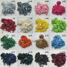Lots 1 bag Hang Tag String Nylon Snap Lock Pin Loop Fastener Hook Tie 29color