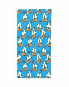 Boat Personalized Beach Kids Towel , Summer Gift ,  Bath Towel, Pool towel