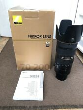 Nikon 70-200mm f/2.8G ED VR II Telephoto Zoom Lens - 1 Owner From New!! + Box