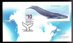 Canada FDC 2010 Blue Whale $10, sc#2405