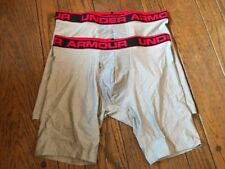 2 Men Under Armour Boxer Brief Medium Large XL 2XL 9 Inch 1277240 Gray NIB