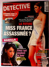 DETECTIVE du 7/8/2013; Nabilla menacer/ Miss France assassinée ?/ Hyper Amiens