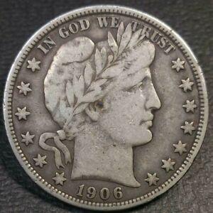 1906 D Barber Half Dollar VF