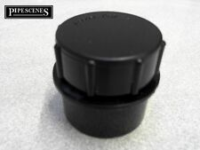 """Solvent Weld Access Cap Rodding Eye Waste Water Glue Fit Cement 40mm 43mm 1.5"""""""