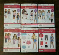 "American Girl Six Sewing Patterns Simplicity 18"" Doll Clothes New Uncut FF"