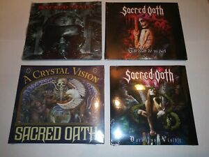 SACRED OATH CD LOT OF THREE (+ free bonus CD) FACTORY SEALED NEW Worldsound USA