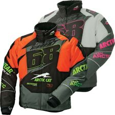 Arctic Cat Youth Team Tucker Hibbert 68 Insulated Snowmobile Jacket - Green Pink