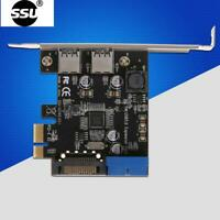 SSU 2 Port USB 3.0 PCI-e x1 Expansion Card PCI Express Adapter for Desktop PC