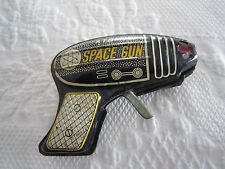 Vintage Tin Litho ATOMIC SPACE TOY GUN Japan  Working Condition c1950's