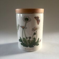 """Portmeirion Botanic Garden 5.5"""" canister with Daisy (Bellis Perennis) w/Wood Top"""