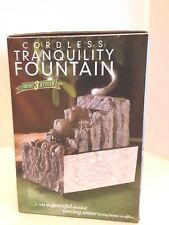 Cordless Tranquility Stepping Rock Fountain Table Top NIB