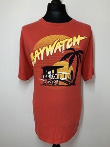 TU Baywatch TV Series Red Retro T Shirt Tee XXL 2XL