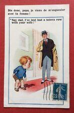 CPSM. Illustrateur Donald Mc GILL. Comique. N°3422. Dis donc papa je viens de...