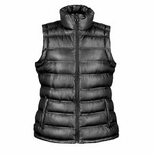 Result Ladies Quilted Padded Body Warmer - Rain Shower Proof and Windproof 12 Black