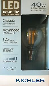 Kichler Decorative Collection 40-Watt Clear G16.5C LED Bulb w/Candelabra Base