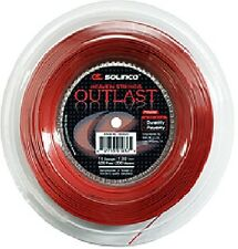 Solinco persistere malgrado TENNIS 200m Reel 16 / 1.30 mm-Rosso