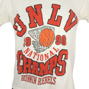 UNLV Runnin Rebels T Shirt Vintage 90s 1990 Champions Made In USA Size Small