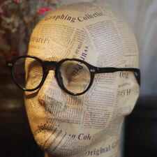 Retro Vintage Johnny Depp eyeglasses mens oval round acetate black RX glasses