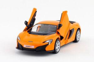 Orange 1:36 Scale McLaren 650s Sports Car Diecast model Pullback 1/36