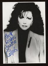 Jackie Collins Signed Vintage Photo Autographed AUTO Signature