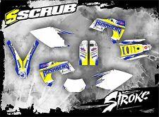 SCRUB Husaberg graphics decals kit FE 450 550 650 2006-2008 stickers '06-'08