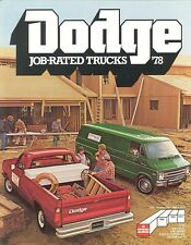 1978 Dodge Pickup Van KaryVan Retriever Rail-Track FL Truck Sales Brochure