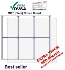 MOT SIGNS | MOT SIGN | PLAIN ECONOMY MOT NOTICE BOARD | VOSA  DVSA APPROVED