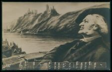 Classic Music composer original old c1910s photo postcard