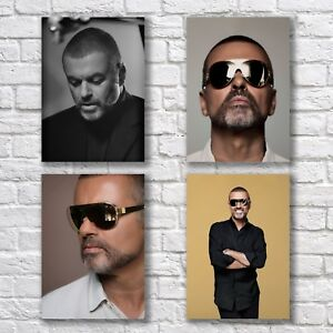 George Michael Poster A4 NEW Set HQ Print LWP Christmas Home Wall Decor