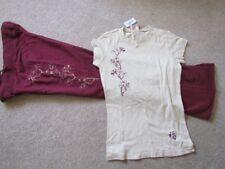 Aeropostale Women's maroon oatmeal top pants set S workout yoga pajamas NWT's