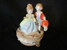 Josef Originals Music Box Love is A Many Splendid Thing Porcelain Girl & Boy 6""