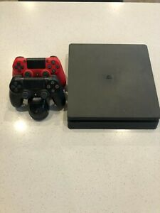 Sony PlayStation 4 PS4 Slim 1TB Jet Black Console (CUH-2215B)- extra controller