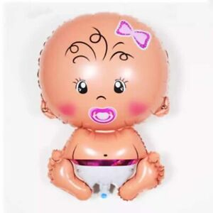 Large Baby Girl or Boy Foil Balloon for Baby Shower Celebrations Party Decorates