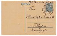 Deutsches Reich, Ganzsache P 120 A I K 1 Degerloch nach Tübingen 28.03.1921