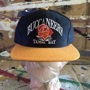 Vintage NWT AJD Tampa Bay Buccaneers Embroidered NFL Snapback Hat Cap Wool