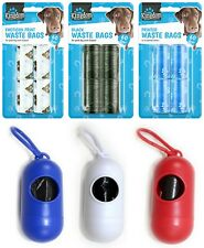 Dog Poop Waste Bag Holder Dispenser With Lead Attachement Plastic Dog poo Bags