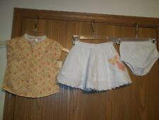 Cherokee Girls Size 18 Months Floral Butterfly Top Skirt Bloomers