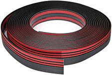 Zierleiste 67mm breit | schwarz rot | flexibel selbstklebend | Meterware