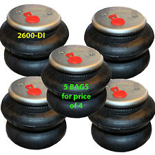 "set of 5 air ride springs lift bags 2600 D-I  3/8"" Fittings"