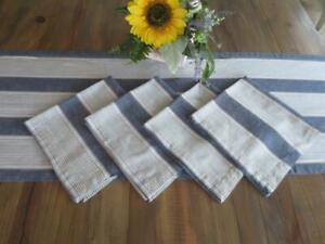 Williams-Sonoma Striped Table Runner & Four Napkins Set