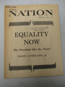 Martin Luther King Jr Article Nation Magazine Civil Rights Black Americana 1961