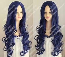 cosplay wig Corpse Bride Tim Burton's Corpse Bride Blue curly hair Halloween wig