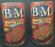 B&M Original And Raisin Canned Brown Bread New England BM Burnham & Morrill
