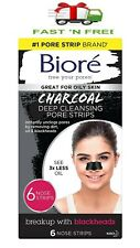 Biore Deep Cleansing Charcoal Pore Strips for Blackhead Removal, Nose Strips 6