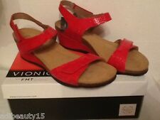 Vionic Natashia Sandal with Orthaheel Technology - Red - size- 6 or 7 UK