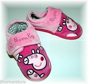CLEARANCE- QUALITY PEPPA PIG  SLIPPERS BRAND NEW WITH TAGS SIZES 9 and 10