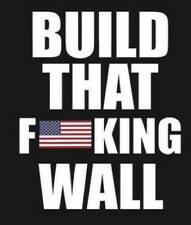 TRUMP BUILD THE WALL IMMIGRATION BORDER 2020 DECAL USA BUMPER STICKER MAGA